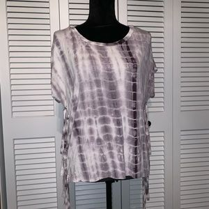 Boho tie dye cut out women's top